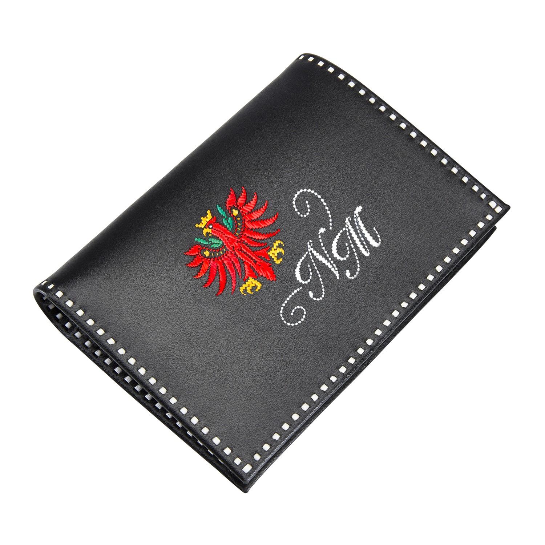 Sarner Geldtasche mit Tiroler Adler in rot und Initialen