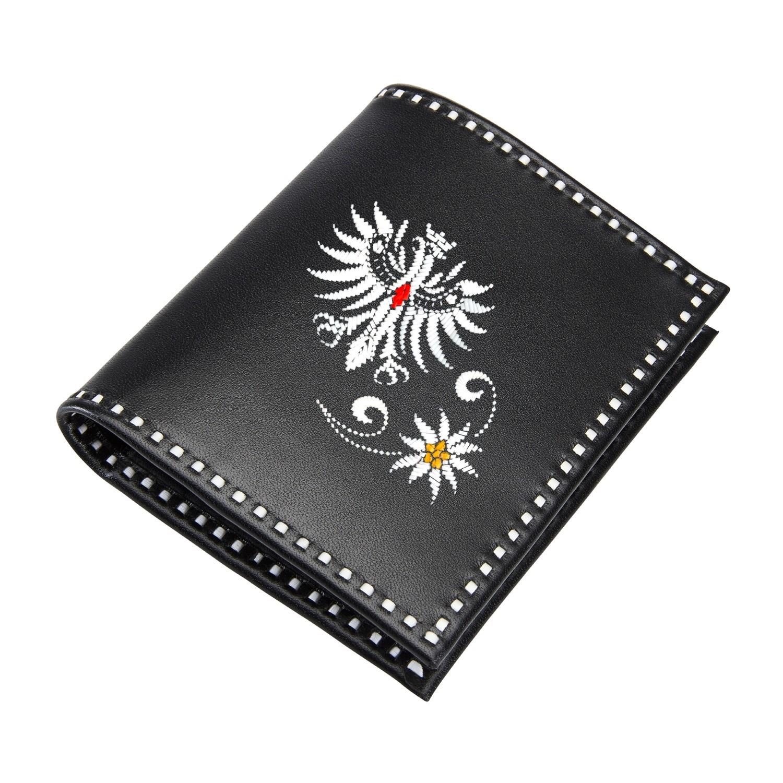 Sarner Geldtasche mit Tiroler Adler und Edelweiss